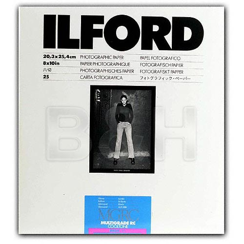 Ilford Multigrade Cooltone Resin Coated (RC) Black & White Paper (8 x 10', Glossy, 100 Sheets)