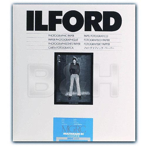 Ilford Multigrade Cooltone Resin Coated (RC) Black & White Paper (5 x 7', Pearl, 100 Sheets)