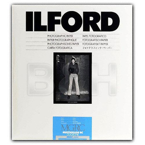 Ilford Multigrade Cooltone Resin Coated (RC) Black & White Paper (8 x 10', Pearl, 100 Sheets)
