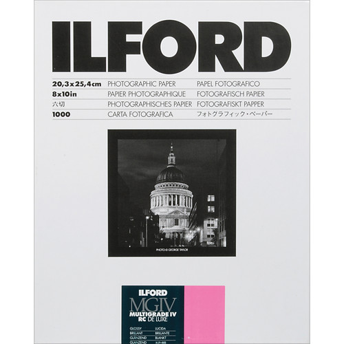 "Ilford Multigrade IV RC Deluxe MGD.44M Black & White Variable Contrast Paper (8 x 10"", Pearl, 1000 Sheets)"