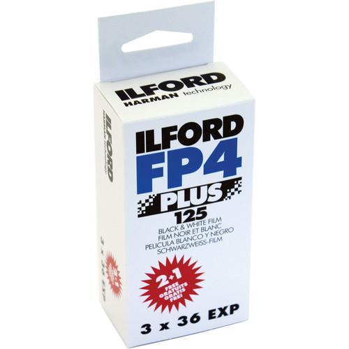 Ilford FP4 Plus 135-36 Exposure Black & White Print Film (3 Pack)