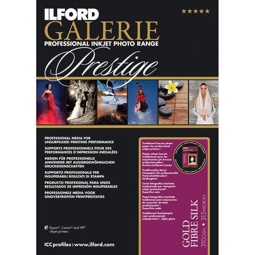"""Ilford GALERIE Prestige Gold Fibre Silk Paper (13 x 19"""", 10 Sheets)"""