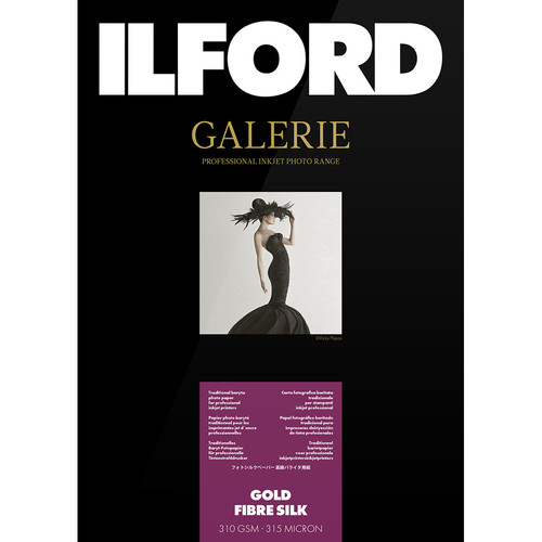 """Ilford GALERIE Prestige Gold Fibre Silk Paper (11 x 17"""", 25 Sheets)"""