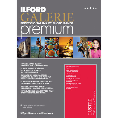 "Ilford Galerie Premium Lustre Paper (5.0x7.0"" - 50 Sheets)"