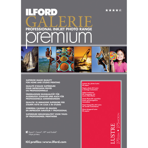 "Ilford Galerie Premium Lustre Paper (13x19"" - 25 Sheets)"