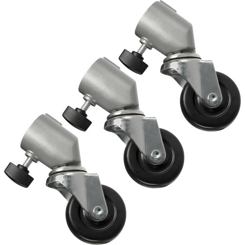 Impact Caster Set for Light Stands with 25mm Tubular Leg Ends (Set of 3)