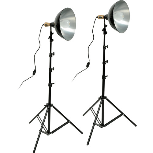 Impact Tungsten Two-Floodlight Kit with 6' Stands