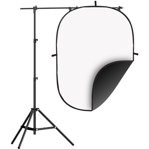 Impact 5x7' Collapsible Background Kit (Black/White)