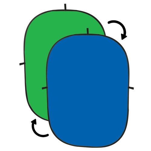 Impact Collapsible Background - 5 x 7' (Chroma Blue/Chroma Green)