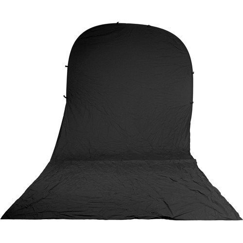 Impact Super Collapsible Background - 8 x 16' (Black)