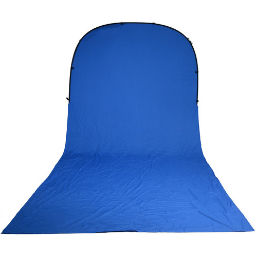 Impact Super Collapsible Background - 8 x 16' (Chroma Blue)