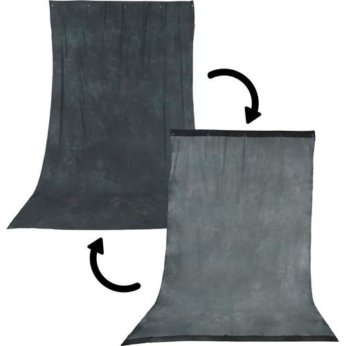 Impact Background Kit with 10 x 24' Dawn/DeepSea Blue Reversible Muslin Backdrop