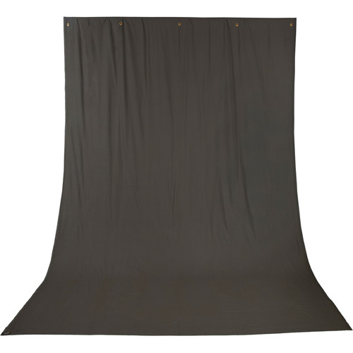 Impact Background Kit with 10 x 12' Solid Dark Gray Muslin Backdrop