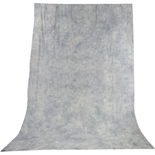 Impact Background Kit with 10 x 24' Tie-Dyed Slate Gray Muslin Backdrop