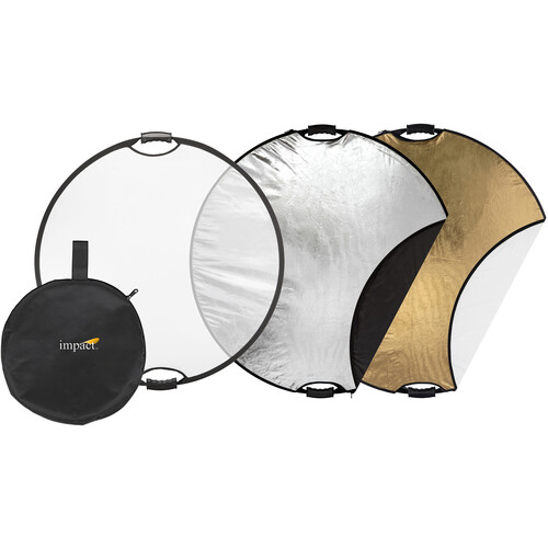 """Impact 22"""" 5-in-1 Reflector with Lightstand and Holder Kit"""