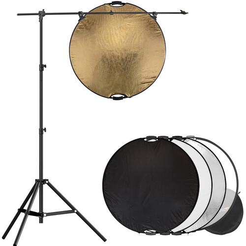 """Impact 32"""" 5-in-1 Reflector with Lightstand and Holder Kit"""