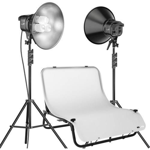 Impact Desktop Studio Shooting Table Two Light Kit (120VAC)
