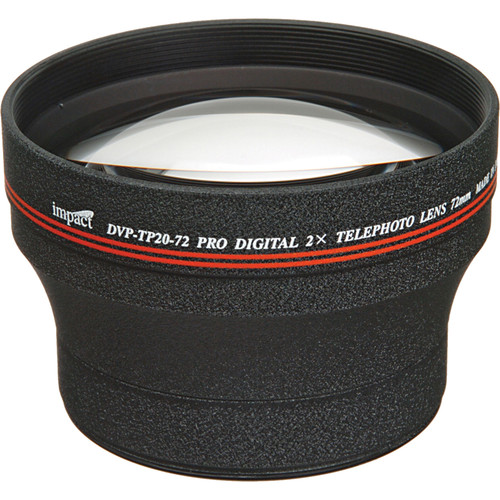 Impact DVP-TP20-72 72mm 2.0x High-grade Telephoto Conversion Lens