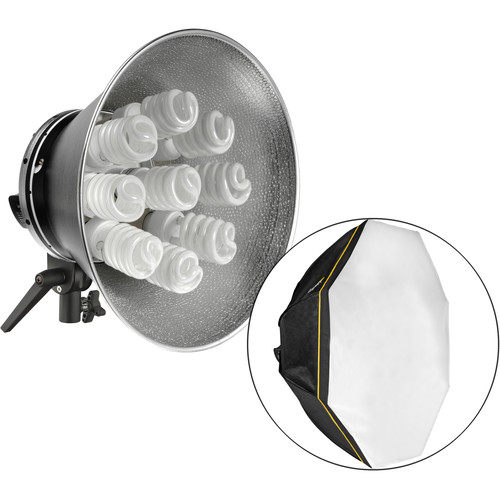 Impact Octacool-9 Fluorescent 2 Light Kit with Octabox (9 Lamps)