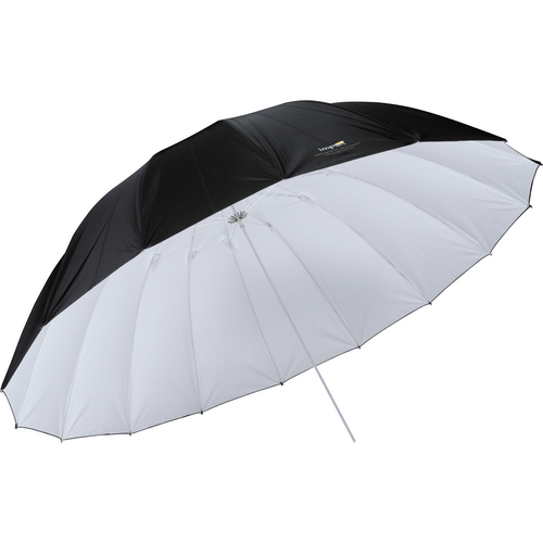 Impact 7' Parabolic Umbrella (White/Black) with Light Stand Kit