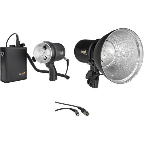Impact LiteTrek 4.0 DC Two Monolight and Mini LiteTrek (LT) Battery Pack Kit