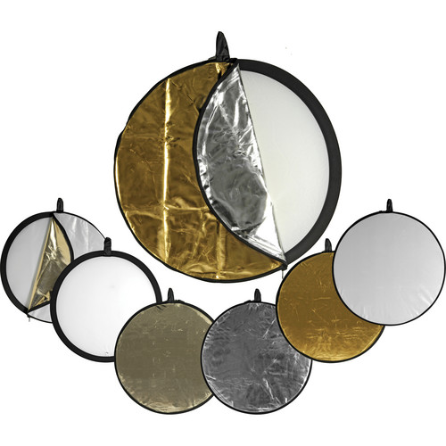 Impact 5-in-1 Collapsible Circular Reflector Disc - 22""