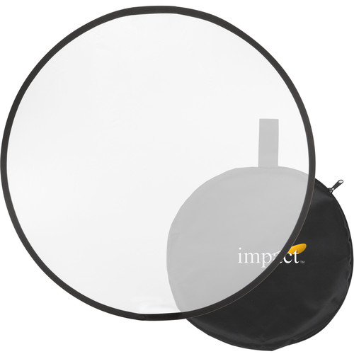 Impact Collapsible Circular Reflector Disc - White Translucent - 12""