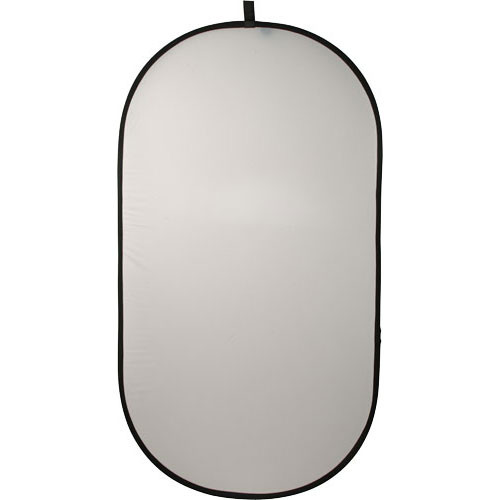 Impact Collapsible Oval Reflector Disc - White Translucent - 41x74""