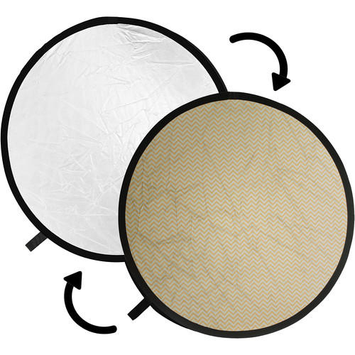 Impact Collapsible Circular Reflector Disc - Soft Gold/White - 12""