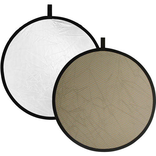 """Impact Collapsible Circular Reflector Disc - Soft Gold/White - 22"""""""