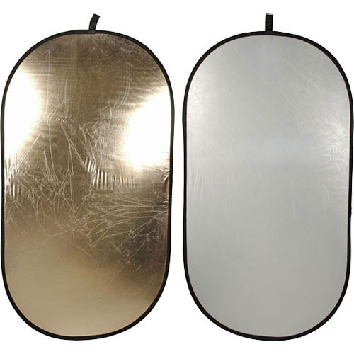 Impact Collapsible Oval Reflector Disc - Soft Gold/White - 41x74""