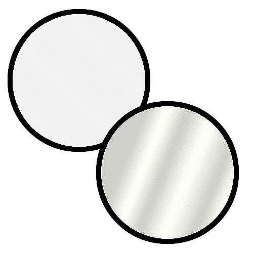 "Impact Collapsible Circular Reflector Disc - Silver/White - 22"""