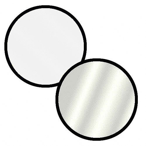 Impact Collapsible Circular Reflector Disc - Silver/White - 42""