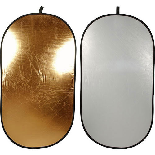 """Impact Collapsible Oval Reflector Disc - Gold/Silver - 41x74"""""""