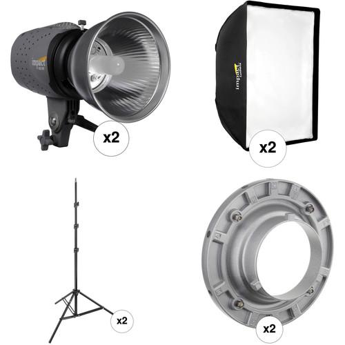 Impact Two Monolight Softbox Kit (120 VAC)