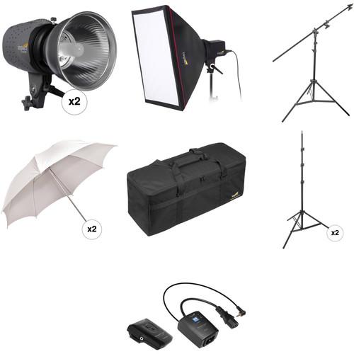 Impact Three Monolight Portrait Boom Kit with Case (120VAC)