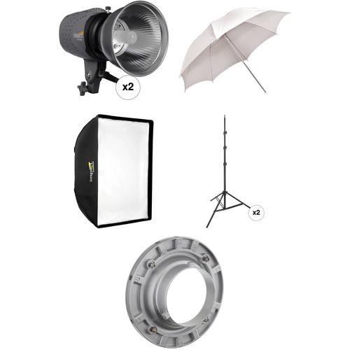Impact Two Monolight Umbrella/Softbox Kit (120 VAC)