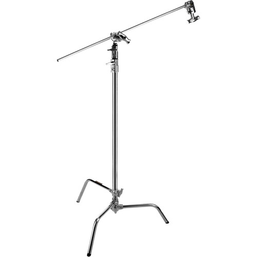 Impact C-Stand with Sliding Leg Kit (Chrome-plated, 11')