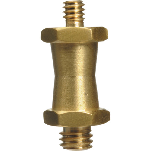 "Impact Short Double Male Stud for Super Clamps with 1/4""-20 & 3/8"" Threads"