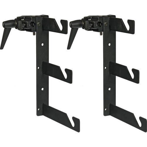 Impact Triple Background Hooks with Super Clamps (Pair, Black)
