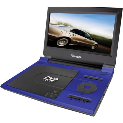 "Impecca DVP774B2 7"" Portable DVD Player (Blue)"