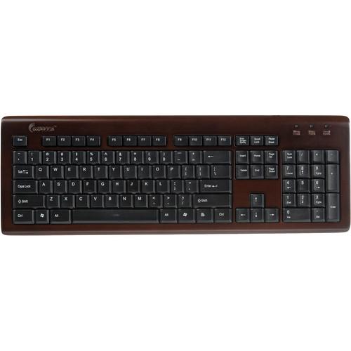 Impecca Bamboo Designer Keyboard (Espresso)