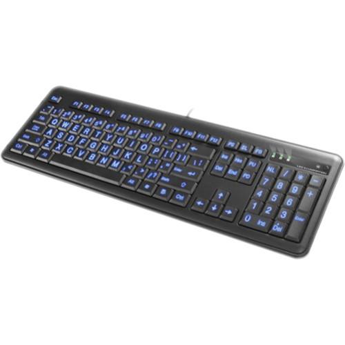 Impecca Large Font Illuminated Keyboard