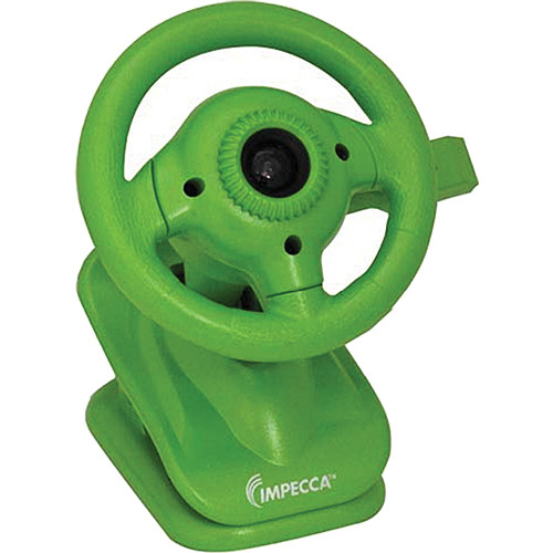 Impecca WC100 Steering Wheel Webcam with Built-In Mic (Green)