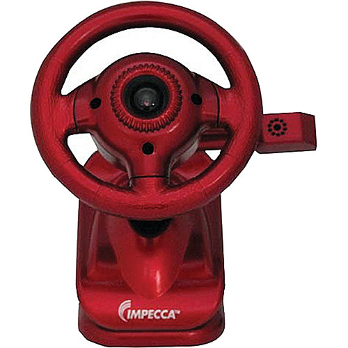 Impecca WC100 Steering Wheel Webcam with Built-In Mic (Red)
