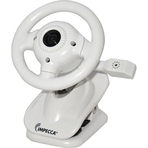 Impecca WC100 Steering Wheel Webcam with Built-In Mic (White)
