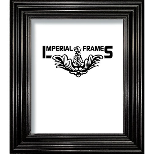 "Imperial Frames Model F326, Nuveau Wood Picture Frame - 11 x 17"" (Black)"