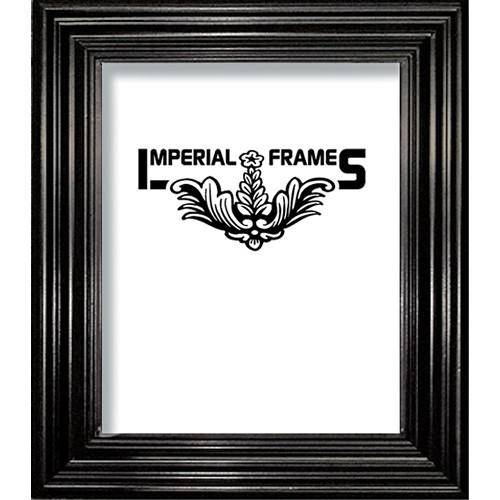 "Imperial Frames Model F326, Nuveau Wood Picture Frame - 11 x 17"" (Black)"