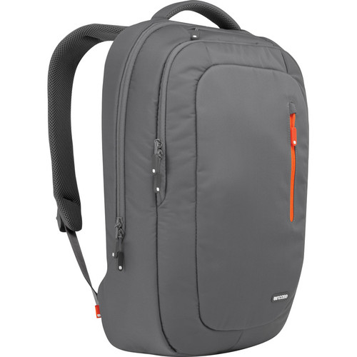 Incase Designs Corp Tech Pack Backpack (Dark Gray / Red Orange)