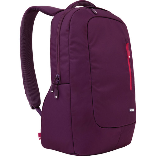 Incase Designs Corp Nylon Compact Backpack (Aubergine/Cranberry)